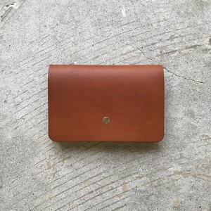 forme Hand wallet FULL LISCIO BROWN