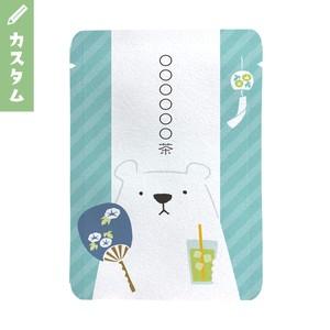 【カスタム対応】暑中見舞い向けシロクマ柄(10個セット)|オリジナルプチギフト茶