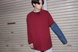 King Size Remake Red Denim Shirt