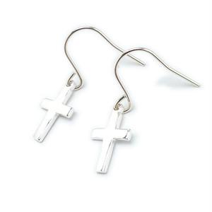 ピアス シルバー925 クロス 十字架