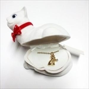 【ネコ】Wildlife Garden アニマルペンダント 愛しい ベロアボックス ♡ ユニークな動物たち ペンダント 40cm アジャスタ付