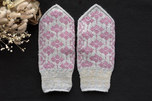 sunao knitting ミトン 大人用 【 rustic flowers of croatia 】