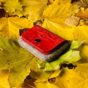 119 Wool Felt Card Holder & Coin Purse Autumn Red