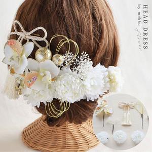 飾り 髪 成人 式 プリザーブドフラワーブーケ・髪飾り・花冠のフルーレ*結婚式・成人式に♪