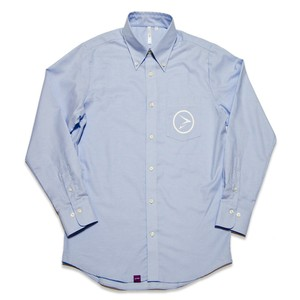 Circle logo oxford shirt ブルー