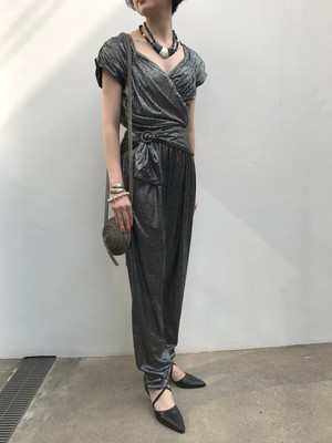 80s silver × black jumpsuits