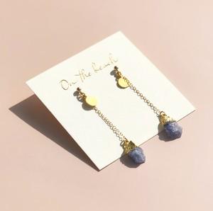 Tanzanite chain ピアス/ OBH-67