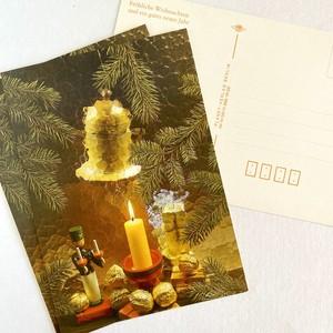 【特価】クリスマスカード3枚セット(未使用) キャンドルとエルツの兵隊さん 東ドイツ ヴィンテージ