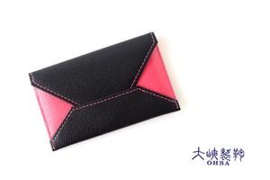 【中古】大峽製鞄|obaseiho|カードケース|ツートンカラー|封筒型