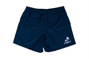 【palm tree nylon shorts】/ navy