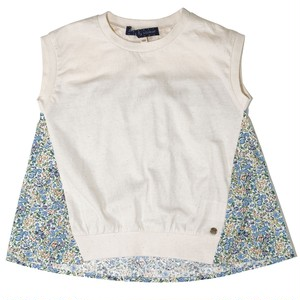 Little s.t. by s.t.closet フレンチスリーブドッキングTシャツ