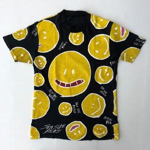 80's SMILE ビンテージ スマイル スマイリー 総柄 Tシャツ M~Lサイズ