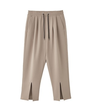 (JUHA) FRONT SLIT TAPERED PANTS