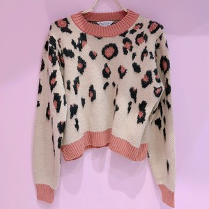 【miss selfridge】 Brown Animal Print Knitted Jumper