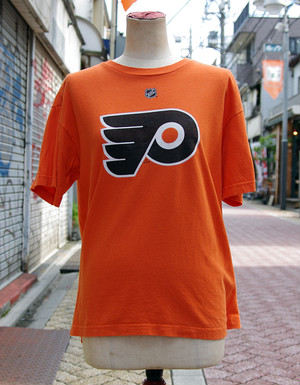 "【USED】 T-shirt REEBOK ""NHL"" Mens/S-M-size"