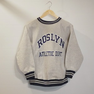 "Champion 1980's REVERSE WEAVE SizeS ""ROSLYN ATHLETIC DEPT."""