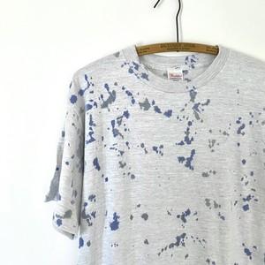 手染めTシャツ(ベース杢グレー) / Splash / Men's Lサイズ