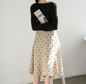 ドット柄 水玉 レトロ フレンチ スカート【16426】
