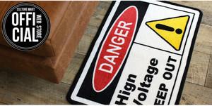 カルチャーマート(Culture Mart) FLOOR MAT(DANGER) 【フロアマット リビング 汚れ防止 玄関マット 室内】