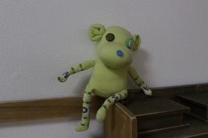 ぬいぐるみ ソックモンキー(ライム)出産祝い 人形