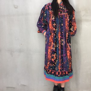 70's Made in India cotton smock dress