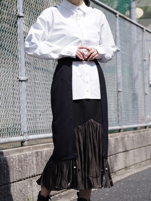 【予約アイテム】disemBySiiK GATHER TIGHT SKIRT navy