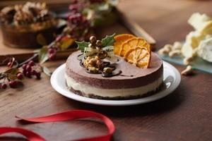 予約受付開始!(15cm)X'masビーガンオレンジ&チョコレートケーキ※卵・乳製品・小麦不使用