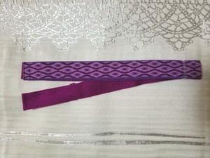 立枠柄 三重紐(紫✕紫)