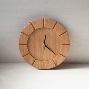 木の時計01(Φ240) No21 | クルミ【針、選択可】