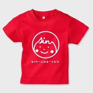 キッズTシャツ sin-cos-tonロゴ(white)