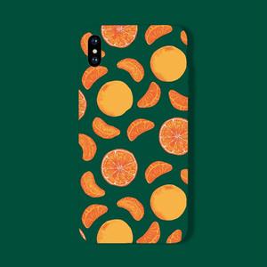 【ファッション小物】シンプルキュット多機能幾何模様フルーツシリコンスマホケース