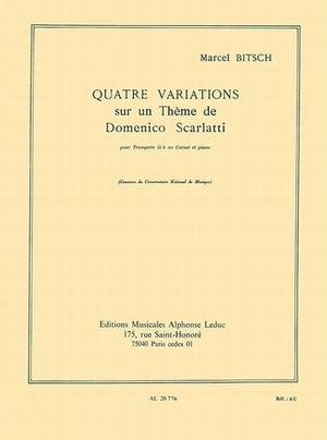 ビッチ:スカルラッティの主題による4つの変奏/トランペット・ピアノ