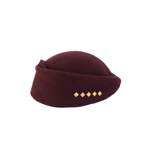 hntbk RRFW1933 fur felt Draped beret(BROWN)