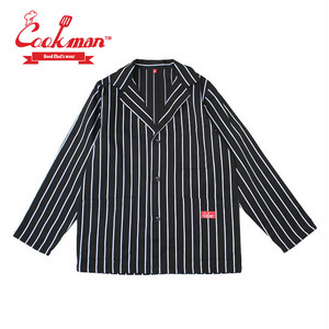 (クックマン)Cookman Lab.Jacket Stripe 「Black」