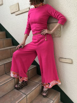 70's pink jumpsuit (70's ピンク ジャンプスーツ)