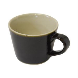 益子焼 つかもと窯 デミタスカップ ブラック 200ml コーヒーカップ 伝統釉シリーズ ゆず肌黒釉 KKC-2