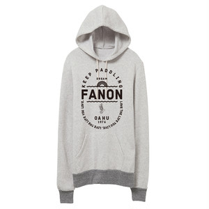 [MAN] KEEP PADDLING FLEECE HOODIE -OATMEAL/GREY-