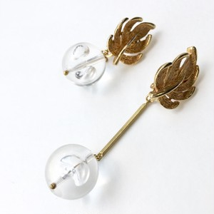 One of a kind earring - Clear bubbles No.702