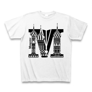 Tシャツ Moscow:ホワイト