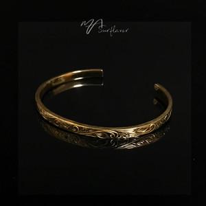 24kgp Hawaiian jewelry bangle(細)