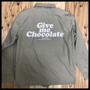 GIVE ME CHOCOLATE Coach Jacket【BEIGE】