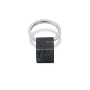 DAMASCUS CUBE RING(5号) / KOSUKE KATO