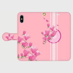 博多献上×ロマンチック木蓮 iPhone専用・手帳型(帯あり)
