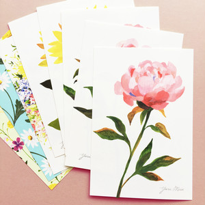 Seasonal Flowers|花々のポストカード・8枚セット(芍薬、向日葵、野の花 etc)