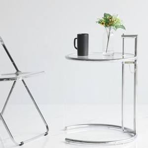 clear con table / コーンテーブル 2段 アジャスト クリア テーブル 韓国 北欧