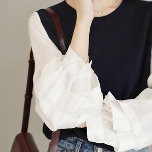 ランキング10位 Lantern Sleeve Shirt Stitch Sweater T638