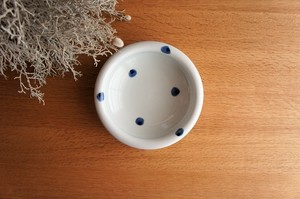 砥部焼/5寸玉縁鉢/水玉