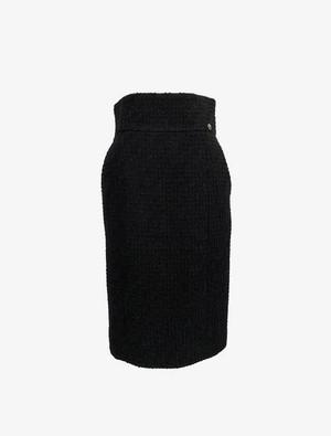 CHANEL 人気のツウィード タイムレスなハイウエストスカート