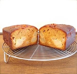 《冷蔵配送》キャラメルと洋梨のパウンドケーキ 1台(パウンド型or丸型)