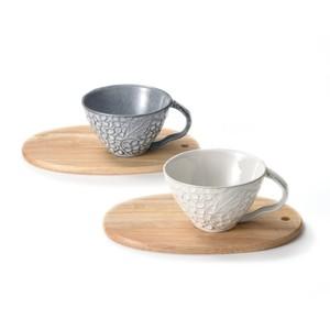 aito製作所 「リアン Lien」 マグカップ&木製プレート ペアセット 美濃焼 267802